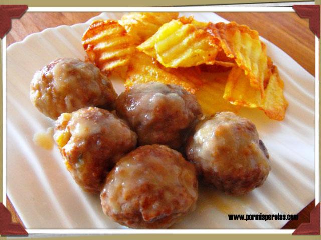 Alb ndigas de carne con manzana por mis perolas blog - Acompanamiento para albondigas ...
